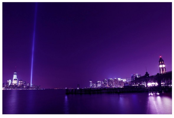 Tribute in Light from Hoboken