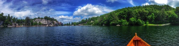 Mohonk lake pano